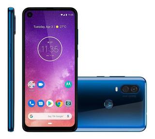 Smartphone Motorola One Vision, 128gb, 4g, 48mp + 5mp, Azul