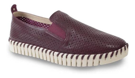 Sapato Bottero 315621 Couro Perfuros Feminino