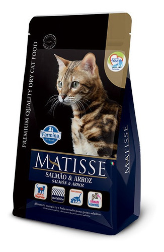 Comida Gato Matisse Adulto 7.5kg Salmón + Plato De Regalo
