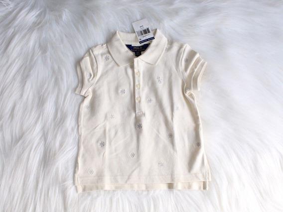 Camiseta Polo Infantil Menina Off White Ralph Lauren