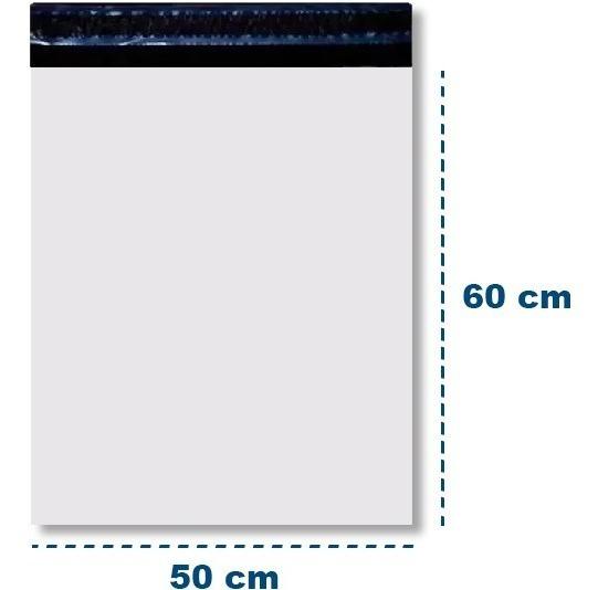 Saco Plástico Envelope Segurança Correio 50x60 - 100 Und
