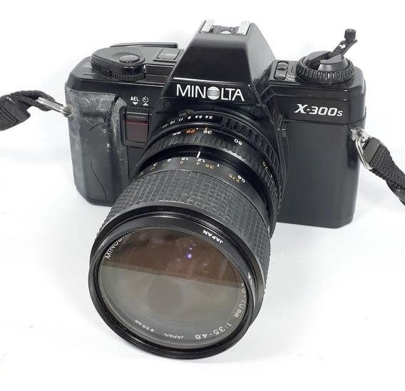 Câmera Fotográfica Minolta X-300s Retirada De Peças