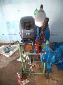 Barco + Motor 15hp+ Motor Eletrico+ Tamque Combustivel