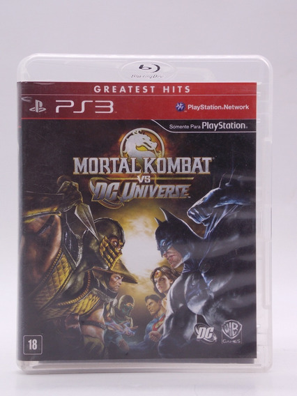 Mortal Kombat Vs Dc Universe Play Station 3 Original Física