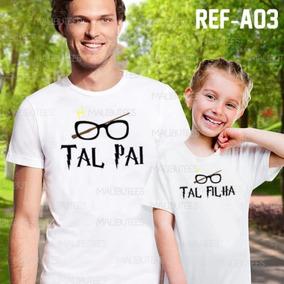 Kit C/2 Camisetas Tal Pai Tal Filha Harry Potter Ref A03