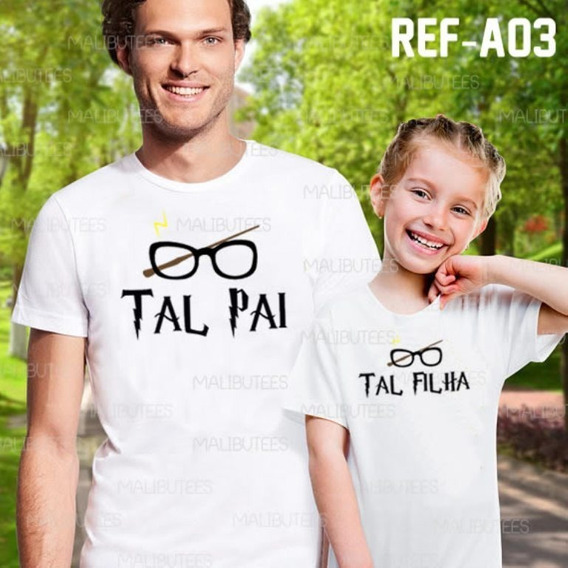 Kit C/2 Camisetas Tal Pai Tal Filha Harry Potter Ref A03