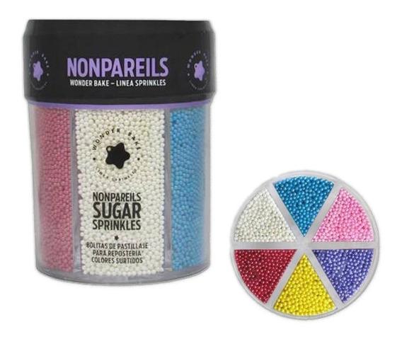 Sprinkles Perlas Wonder Bake 210grs. Muchos Colores / Lauacu