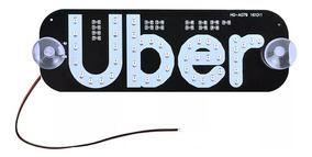 Uber Led Placa 45 Leds Varias Cores App Seguro