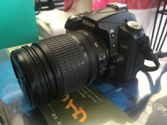 Camera Nikon D90 Com Lente 18-105mm