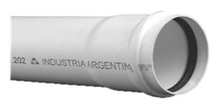 Caño Tubo 40mm (1m) Tigre Junta Elastica Pvc Desague