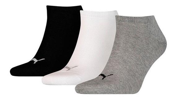 Medias Puma Invisibles Sneaker Pack X 3 Bla-gri-neg Mujer