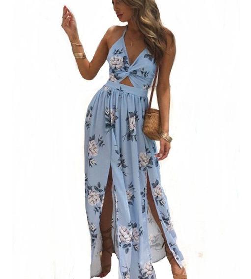 Vestido Longo Social Moda Luxo Feminino Importado