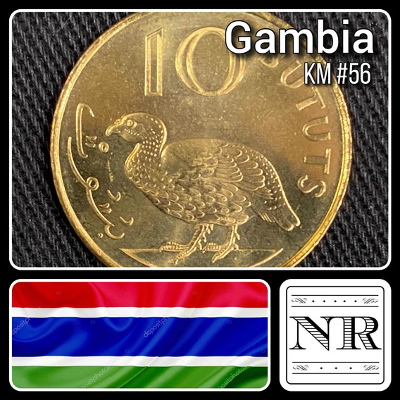 Gambia - 10 Bututs - Año 1998 - Km #56 - Africa - Pajaro