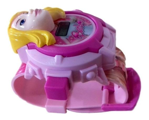 Relógio Infantil Barbie Brinquedo Com Projetor De Imagens