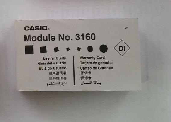 Manual Original Relógio Casio G-shock G-5600 G-5500 Module 3160