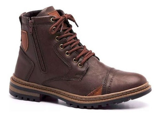 Bota Coturno Masculino Casual Style Adaption Café