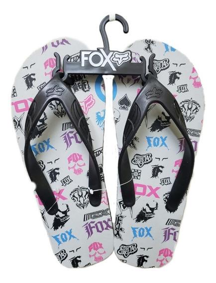 Sandalias Fox Logo Flip Flop 57059-006 Originales Unisex