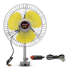Mini Ventilador Veicular Portátil Universal 12v 6pol Amarelo