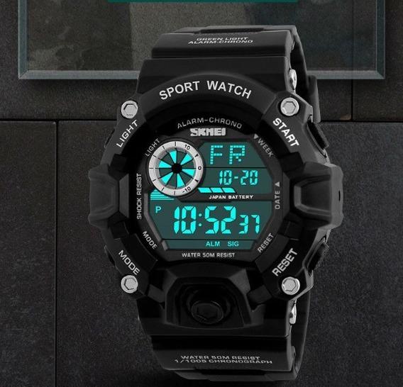Relógio Masculino Skmei 1019 Led À Prova De Água - Homem