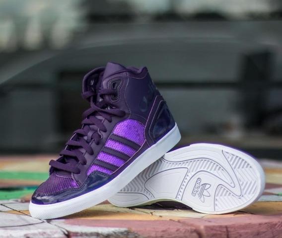 adidas *de Luxe* Botitas Violetas Urbano Top!!