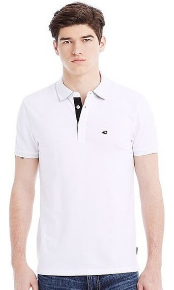 Playera Polo Armani Exchange Ax Color Blanca Talla L