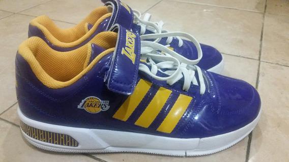 adidas Tenis De Basquetbol Lakers, Nuevos Originales!!!!