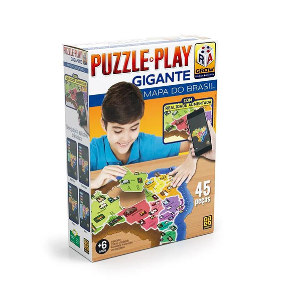 Puzzle Play Gigante Mapa Do Brasil - Grow