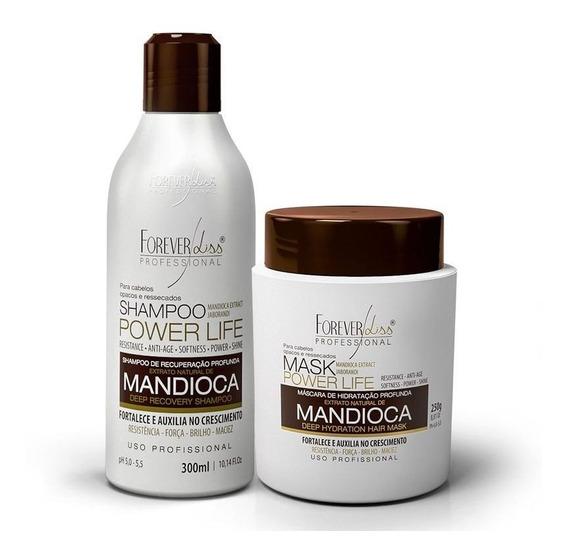 Kit Forever Liss Mandioca Shampoo 300ml E Máscara 250gr