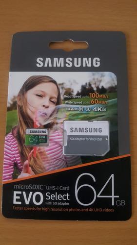 Memoria Micro Sd 64gb Samsung Evo