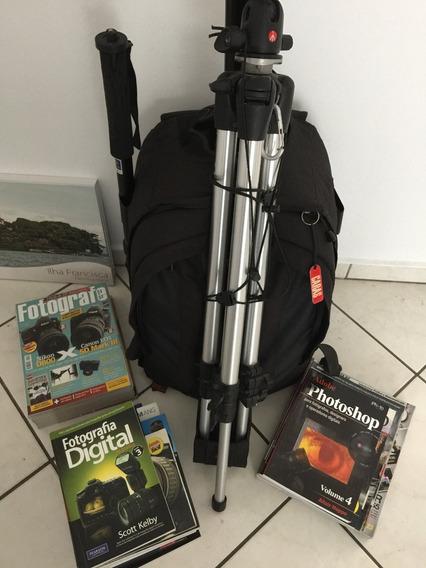 Acessórios Fotográficos Mochila, Tripe, Cabo Disparador