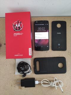 Moto Z2 Play 64gb Platinum Usado Kit Completo