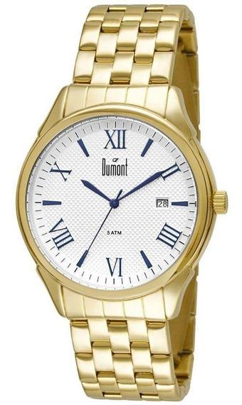 Relógio Masculino Dourado Dumont Du2315at/4k