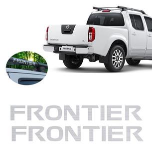 Par Adesivos Tuning Teto Longarina Nissan Frontier Prata