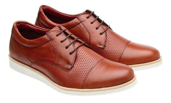 Sapato Calçado Sport Oxford Masculino Couro Frete Grátis