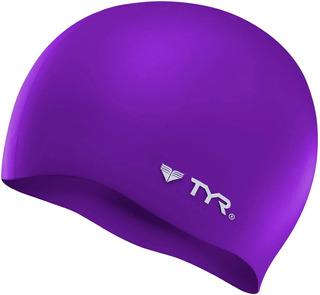 Gorra De Baño Tyr Wrinkle-free Silicone Swim Cap Violeta