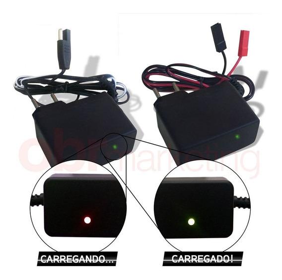 Carregador P/ Bateria 6v 12ah Brinquedos Carro Moto Elétrica