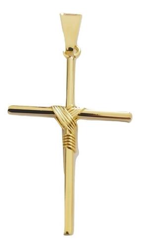 Imagem 1 de 5 de Pingente Rellicari Crucifixo Banhado A Ouro 18k R012