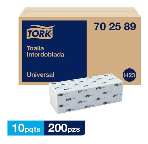 Tork Toalla Interdoblada Universal Hd 10 Paq / 200 Pzs