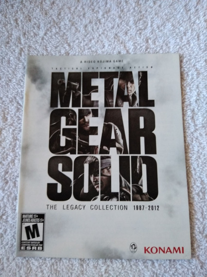 Manual Do Game Metal Gear Solid The Legacy Coll Ps3 *** Leia