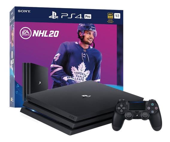 Sony PlayStation 4 Pro 1TB NHL 20 Bundle jet black