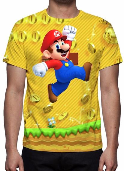 Camisa, Camiseta Game Super Mario Run - 2016