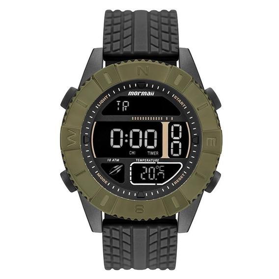 Relógio Mormaii Mo5334ab8v Preto E Verde