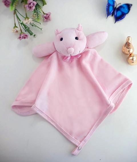 Naninha Cheirinho Paninho Urso Rosa Plush Menina
