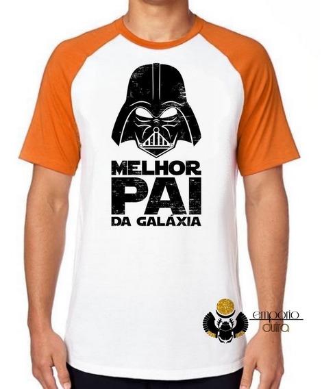 Camiseta Luxo Darth Vader Melhor Pai Da Galaxia Star Wars