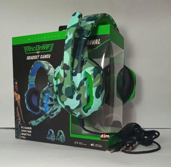Fone Gamer Headset Xbox Ps4 Modelo Xp-6 Naval Tecdrive