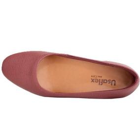 Sapato Vinho Escuro Usaflex Confortável 2601 Menor Preço!