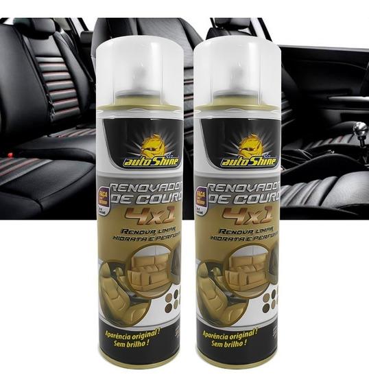 Kit 2 Limpa Renova Hidrata Couro Automotivo Spray Autoshine
