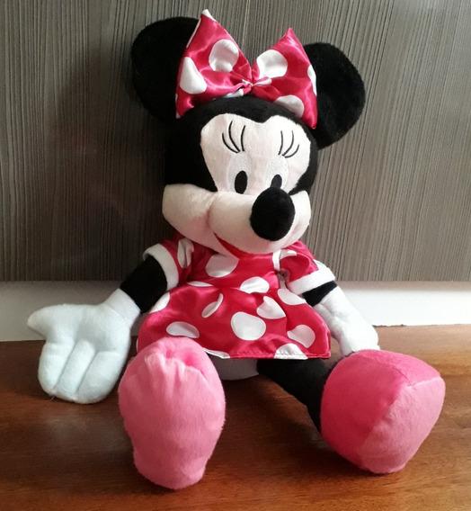 Boneco De Pelúcia Minnie Mouse Rosa Grande 50 Centímetros