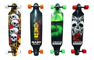 Skate Longboard Montado Roda Importada (pronto Para Andar)