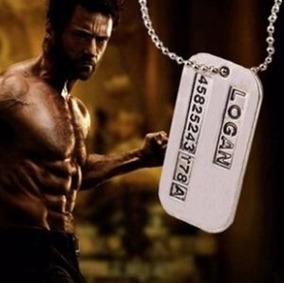 Lote 10 Colares Corrente Logan Wolverine Dog Tag Dupla Face